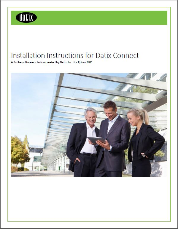 Installation Instructions for Datix Connect