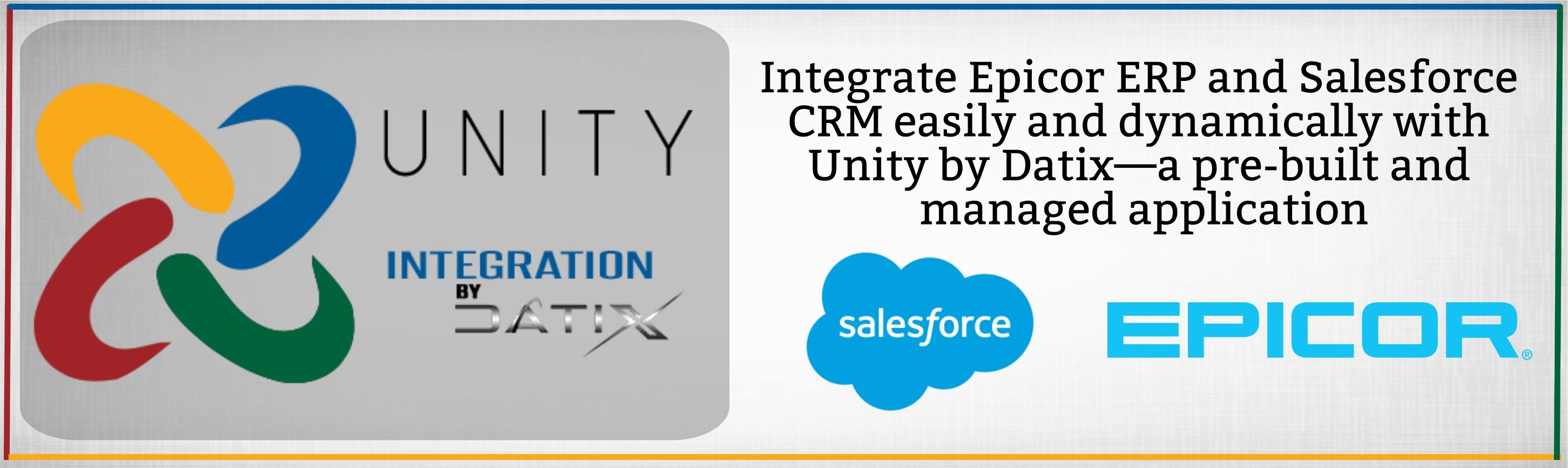Salesforce CRM ERP Integration Unity
