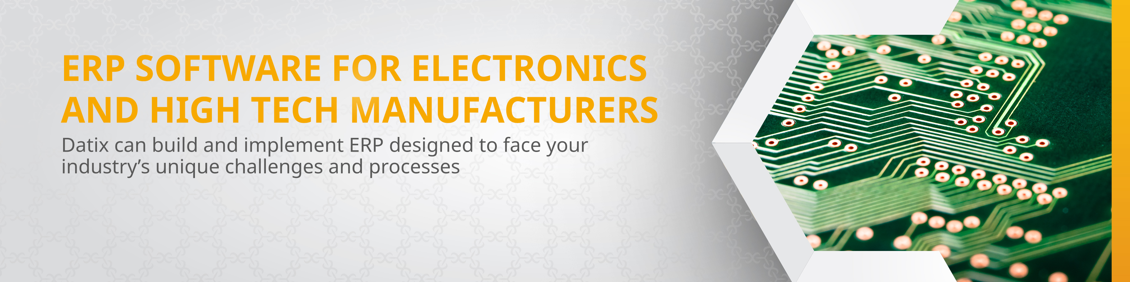 Electronics and High Tech Manufacturing ERP