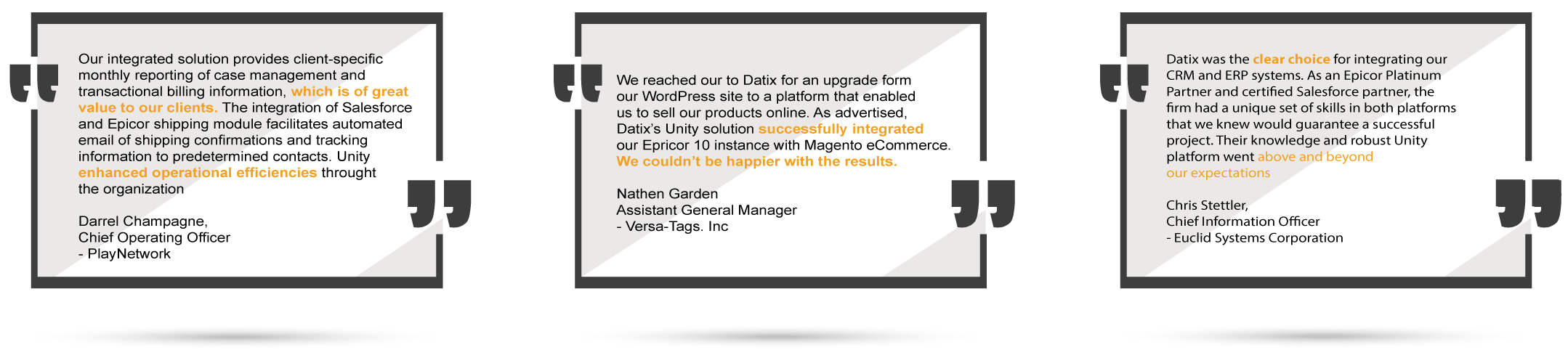 Unity Integration Client Testimony